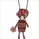 """COLLIER """"PEPETTE PAULETTE"""" ROUGE MLLE HELOISE"""