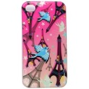 COQUE IPHONE 4 PARIS EN ROSE