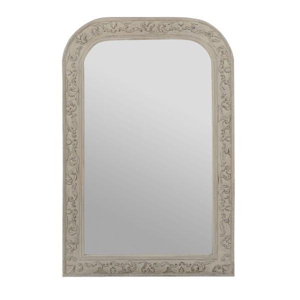 Miroir chaumont manguier patine grise 60x80 cm boutique for Jardin d ulysse miroir