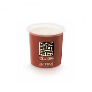 recharge pour bougie decorative parfumee teck et tonka boutique cadeaux. Black Bedroom Furniture Sets. Home Design Ideas