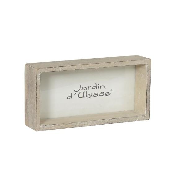 boite cadre photo manguier patine gris clair 15x7xh30 cm boutique cadeaux