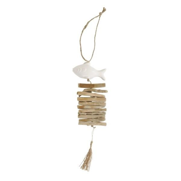 Poisson ceramique blc bois flotte a susp boutique cadeaux - Boutique bois flotte ...