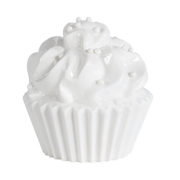 Cupcake decoratif blanc ceramique d7xh7 5 cm boutique for Gravillon decoratif blanc