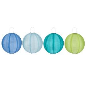 LAMPION LED SOL  BLE F-C/VE/AZ L 40CM ASS4