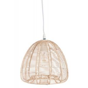 LAMPE PEND METAL/ROTIN NAT 27X27X27CM