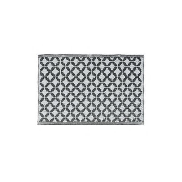 Tapis Plastique Tisse Eclectic Anthracite Blanc Pm