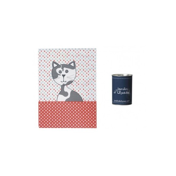 torchon chat goutte boite boutique cadeaux. Black Bedroom Furniture Sets. Home Design Ideas