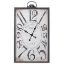 HORLOGE RECTANGLE PARIS BOIS NOIR L 59,5X8,8X103CM