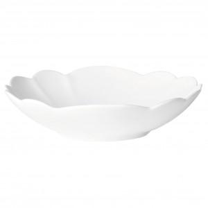 Coupelle fa•ence 16x14.5cm blanc pŽtale
