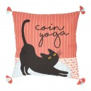 Coussin yoga chamouflage rouge 45x45cm coton+polyester