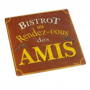DESSOUS PLAT BIST-AMIS 21X21