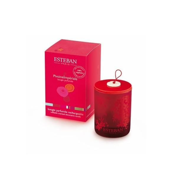 Bougie Decorative Parfumee Rechargeable Pivoine Imperiale Boutique